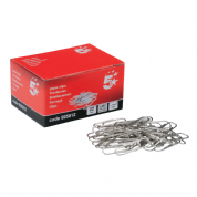 5 Star Office Plain Paper Clips 22mm (Pkd 100)